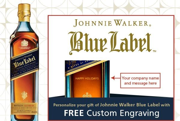 Johnnie Walker Blue Label with Free Custom Engraving